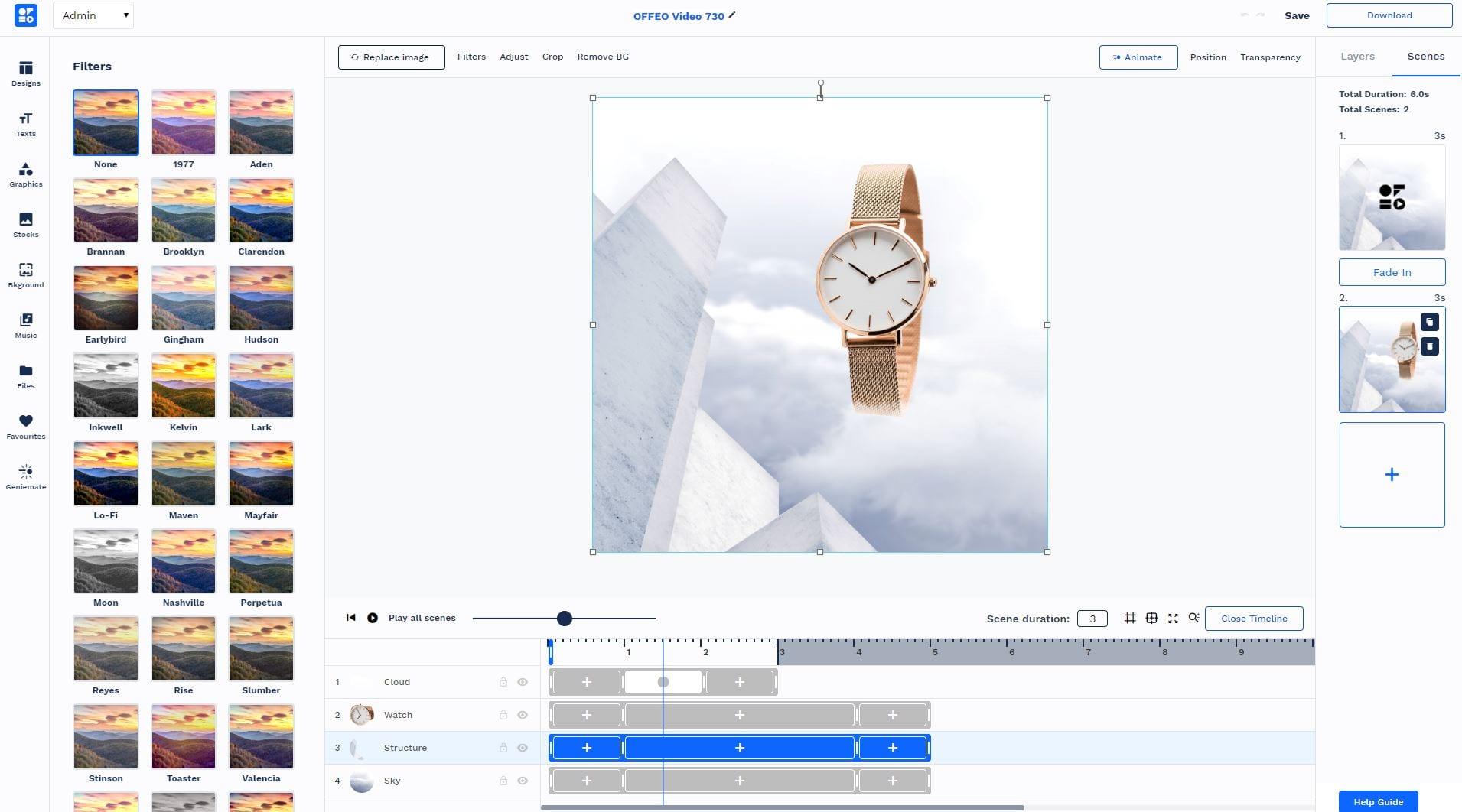 Full creative control on slideshow maker