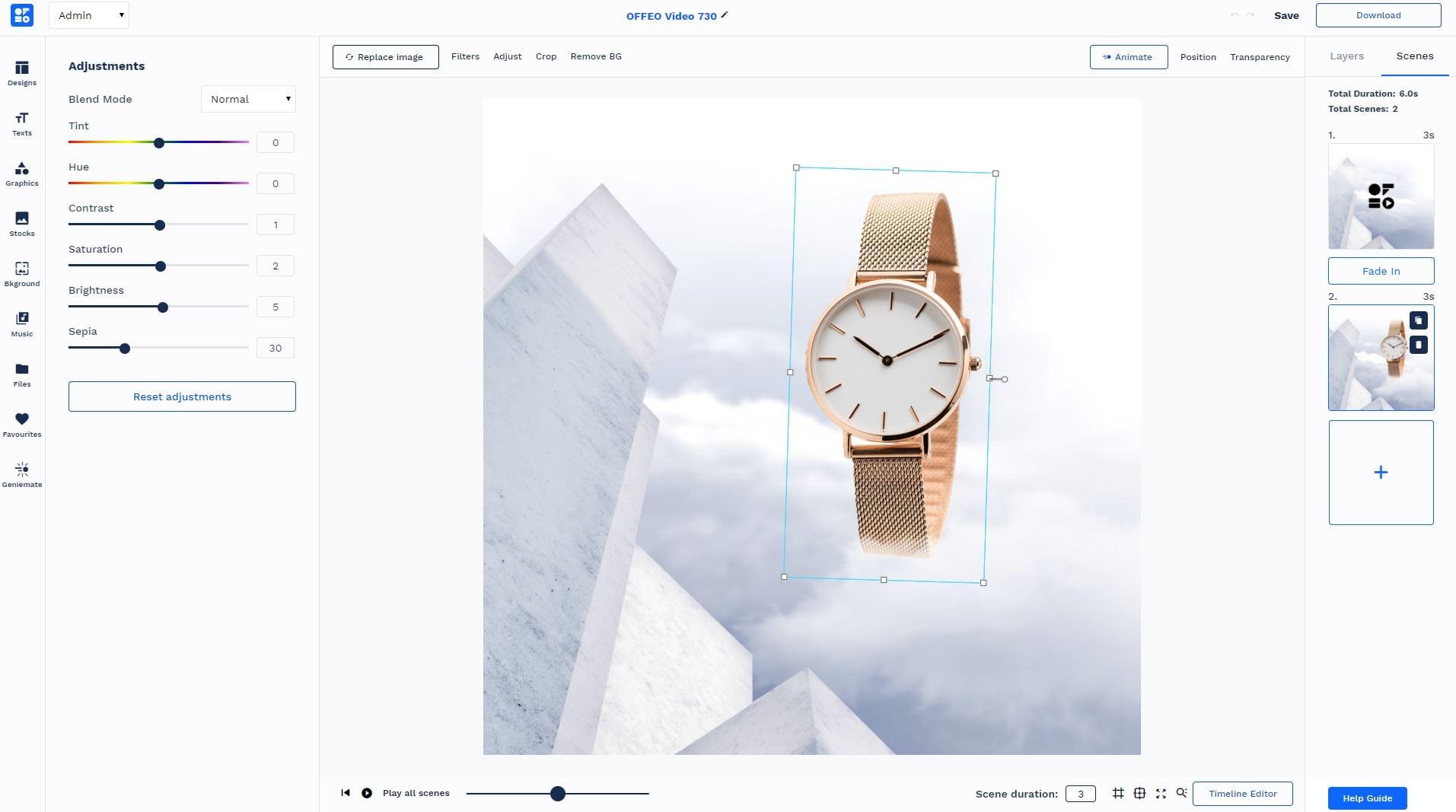 Upload images to the platform