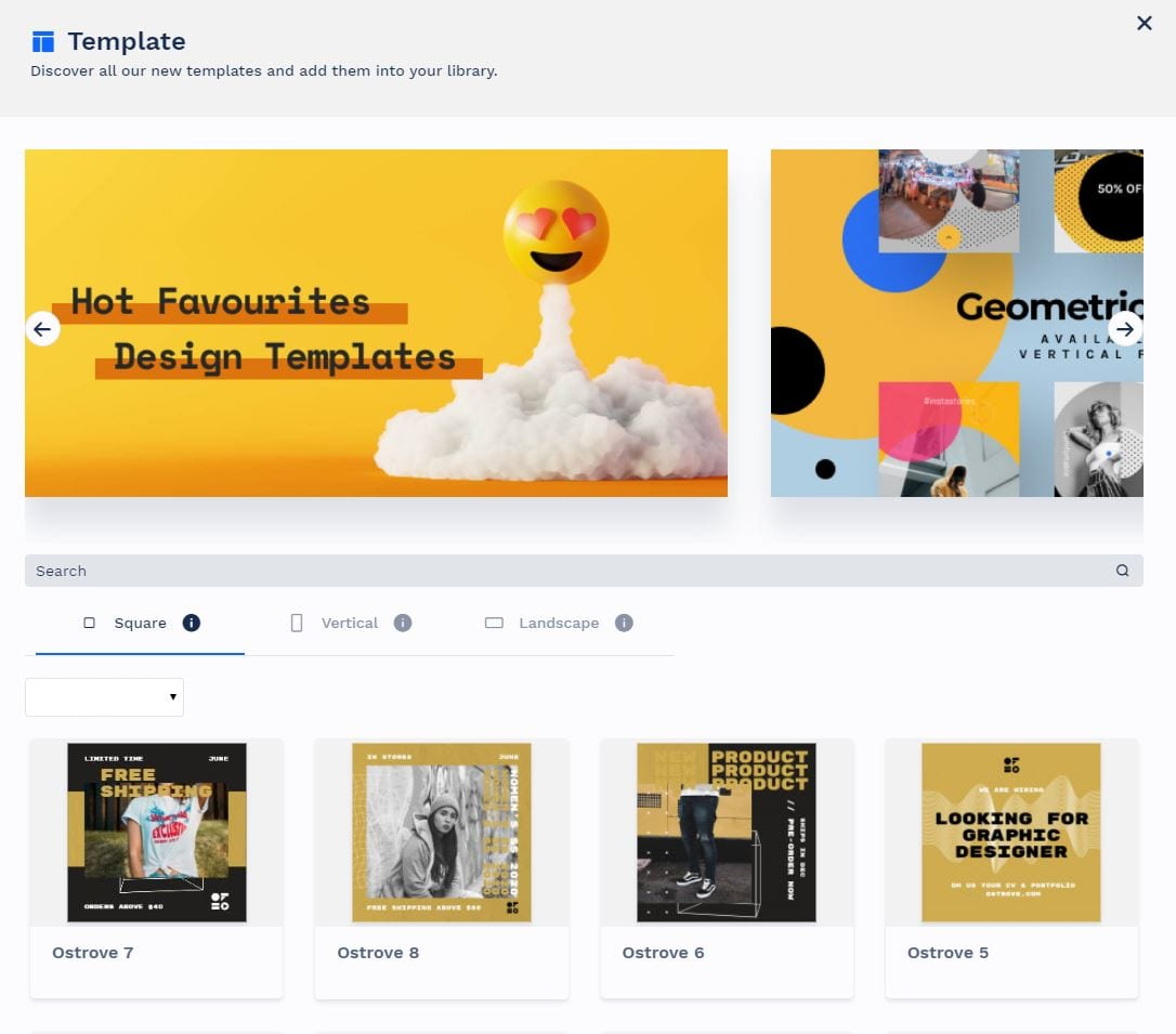 Library of templates